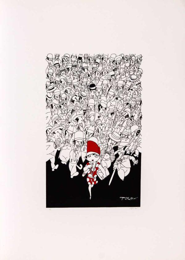 136 - Chico Caruso - 48x66cm - Homenagem a JC - Serigrafia - ano 1988 - Tiragem 100