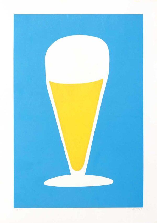 137 - chico caruso - serigrafia - homenagem ao bar - 50x70cm - 100 exemplares - ano 1988