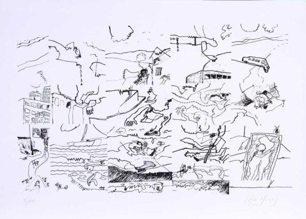 145 - Cildo Meireles - 50x70cm - Serigrafia - ano 2009 - tiragem 50