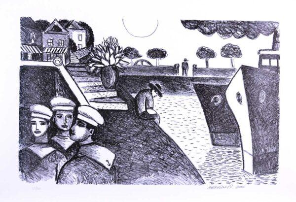 186 - Heraldo Pedreira - 48x66cm Litografia - ano 2005 - Tiragem 100 (2)