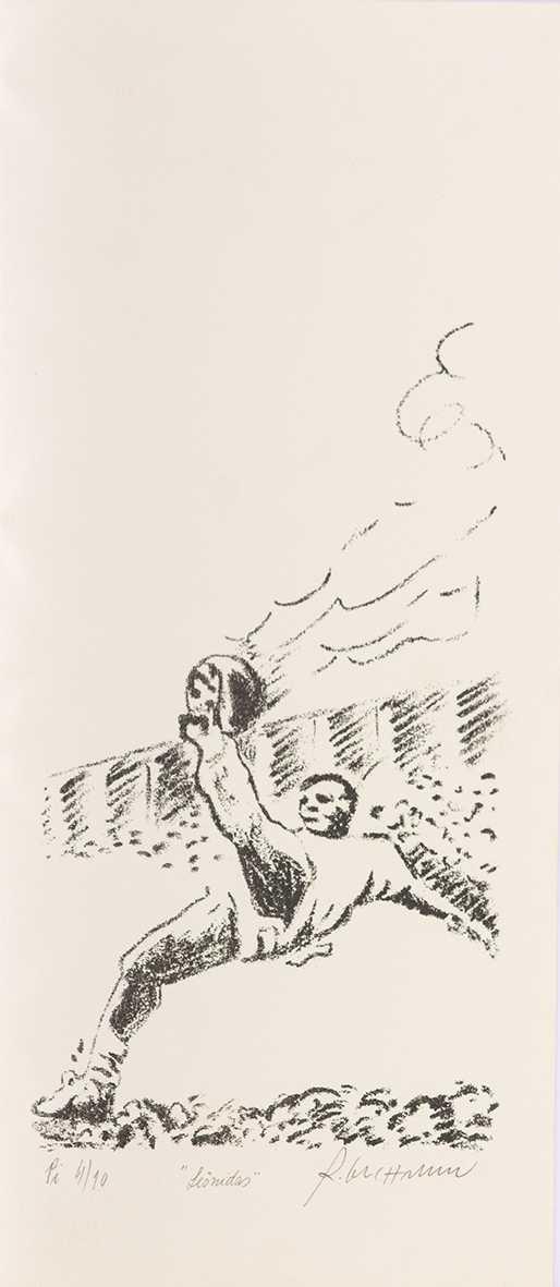 376 - RUBENS GERCHMAN 50x22cm - Litografia