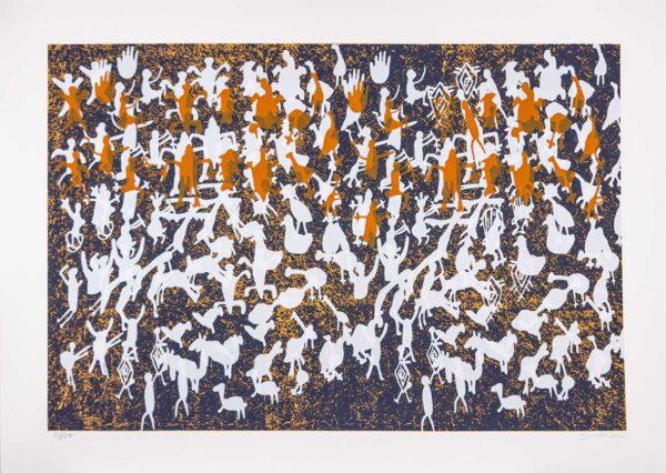 383 - Siron Franco - 100x70cm - Serigrafia - Tiragem 50