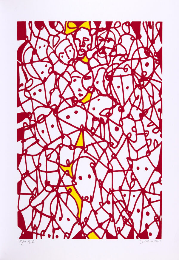 387 - Siron Franco - 50x70cm - Serigrafia - Tiragem 100