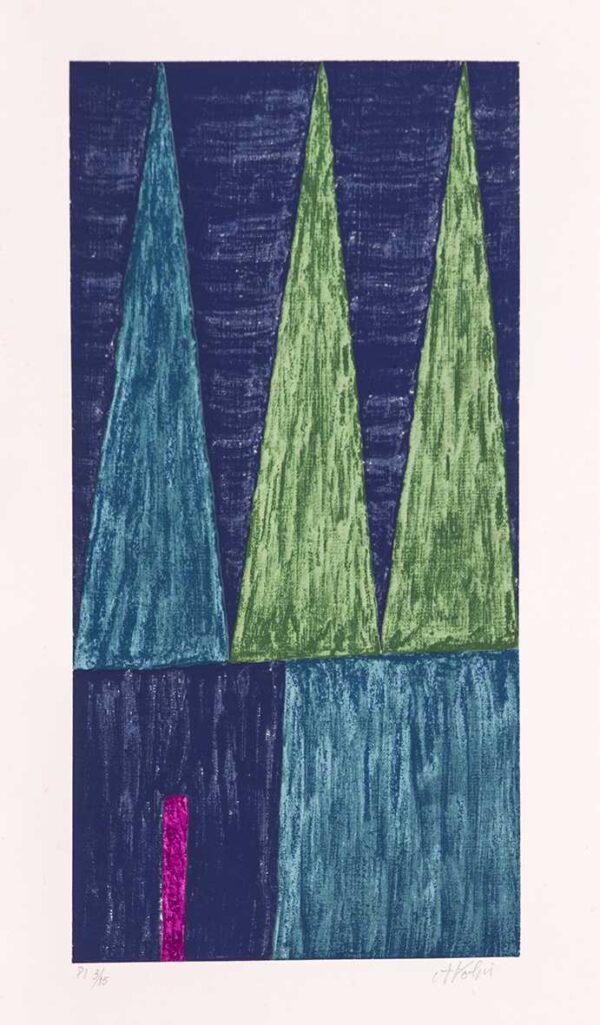 415 - Volpi - 54x30cm - Serigrafia Tiragem 150
