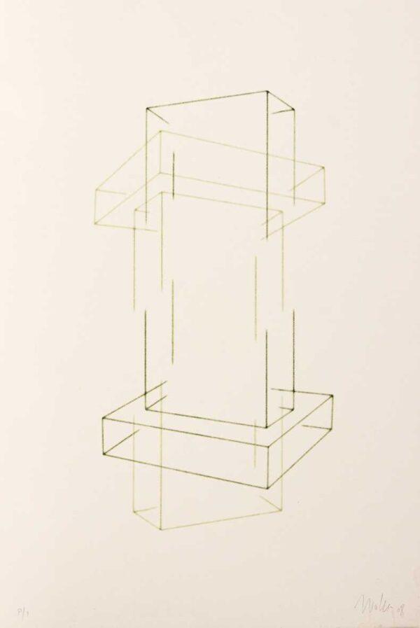 420 - WALTERCIO CALDAS -litografia 50x70cm ano 2008 tiragem de 30 exemplares .jpg.jpg