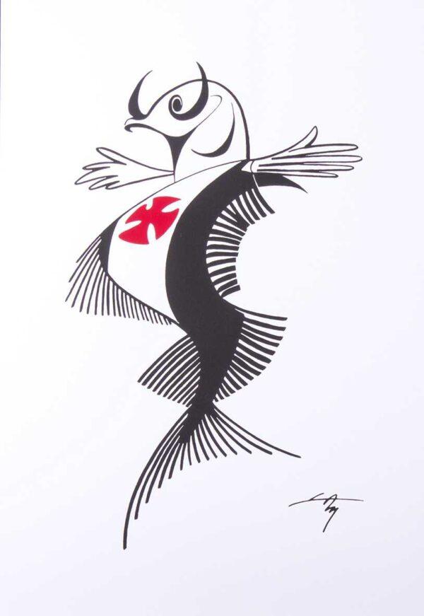 538 - Lan - 50x35cm - Serigrafia - Assinatura Impressa