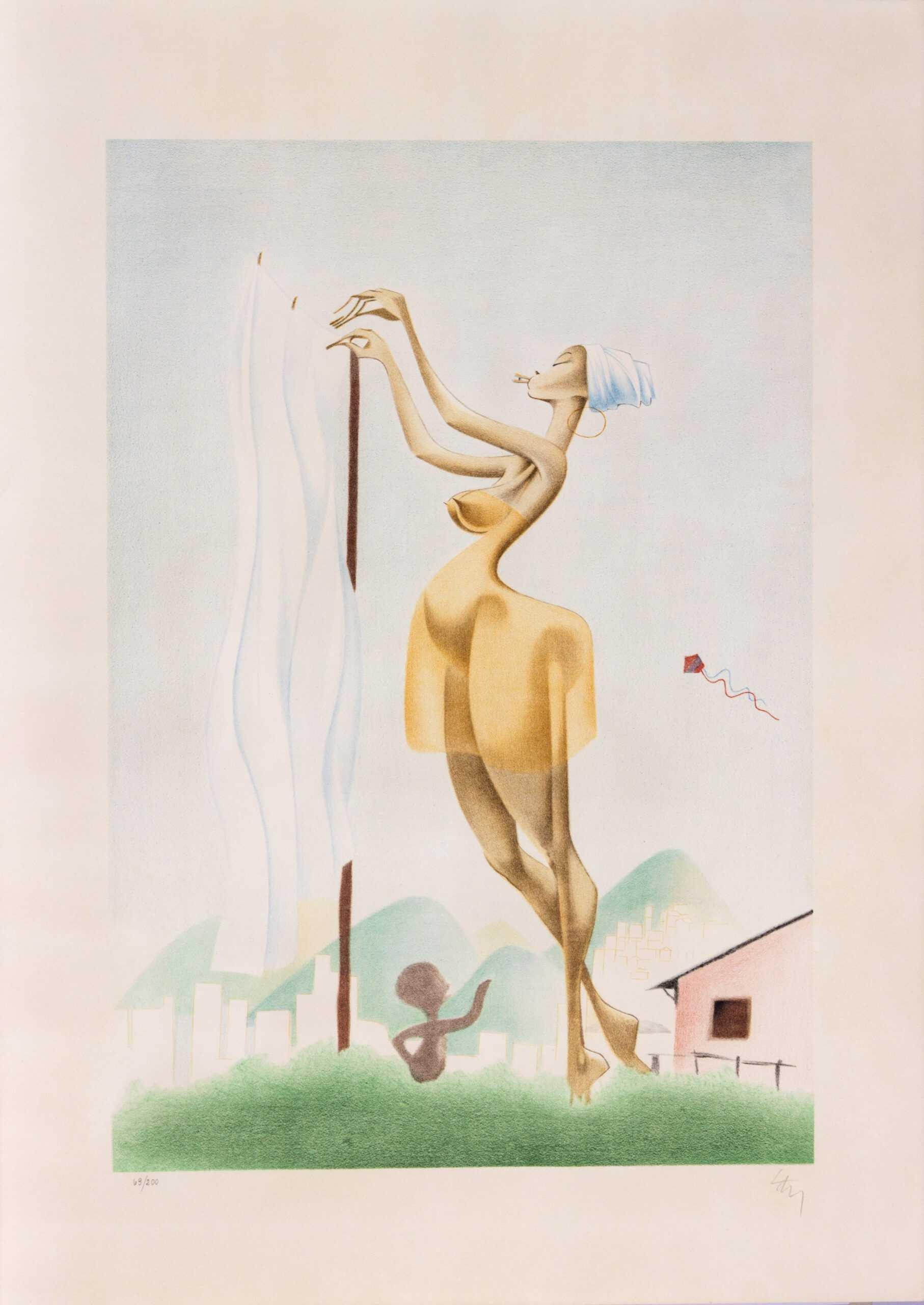 571 - Lan - 66x48cm - Litografia e Serigrafia - Ano 1989 - Tiragem 200 (2)