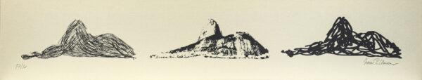 619 - Marcus Claussem - 13x66cm - Serigrafia