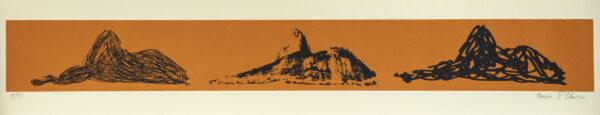 621 - Marcus Claussem - 13x66cm - Serigrafia