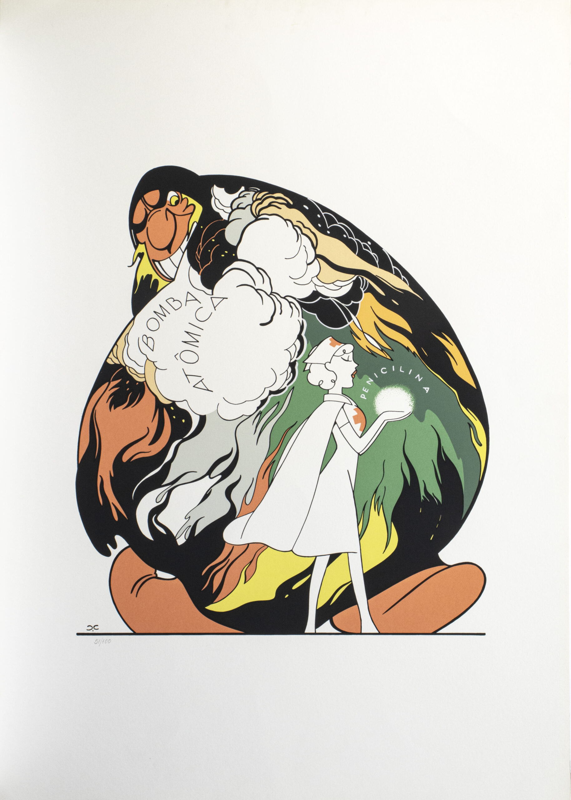 644 - J Carlos - 50x70cm - Serigrafia - ass. impressa