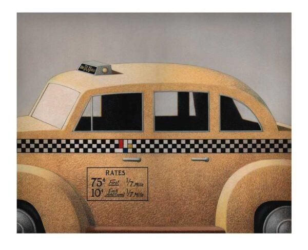 689 - Caulos - taxi para o museu - 61x74cm - Fineart - Tiragem 50