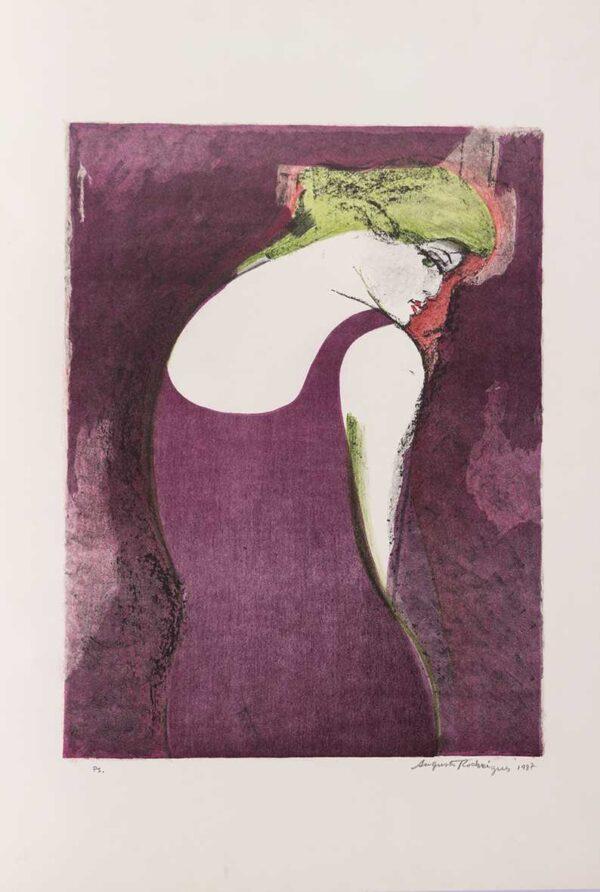 014 - Augusto Rodrigues - litografia 50x70cm ano 1987 tiragem de 100 exemplares