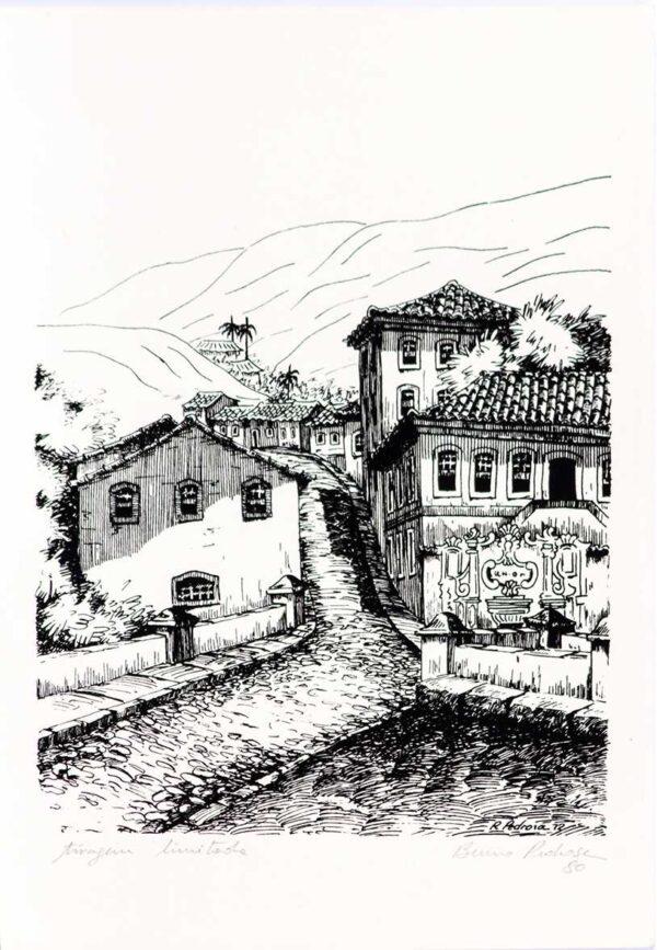 027 - Bruno Pedrosa - 35x50cm - Litografia - Tiragem Ilimitada