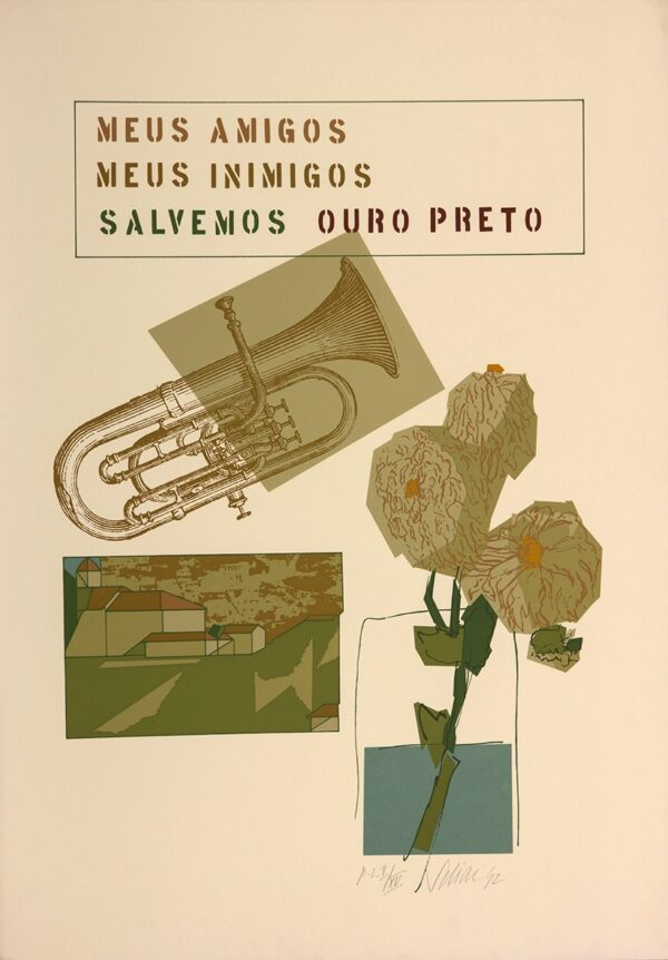 046 - Carlos Scliar - 48x66cm - Serigrafia - ano 1992 - Tiragem 120