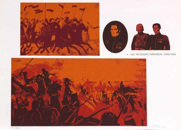 064 - Carlos Scliar - 50x70cm - Redescobertas do Brasil - Serigrafia - Ano 2000 - Tiragem 150 (6)