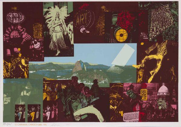 070 - Carlos Scliar - 50x70cm - Redescobertas do Brasil - Serigrafia - Ano 2000 - Tiragem 150 (12)