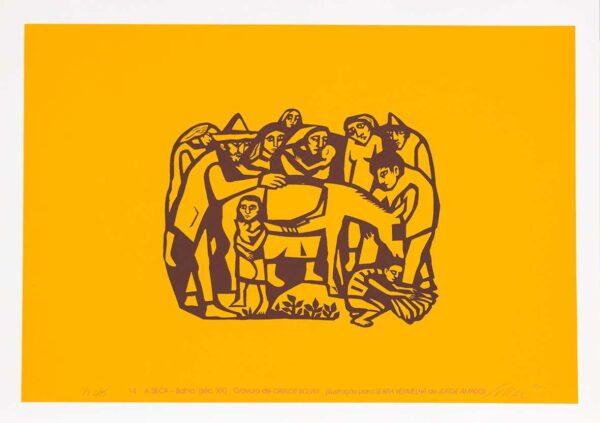 071 - Carlos Scliar - 50x70cm - Redescobertas do Brasil - Serigrafia - Ano 2000 - Tiragem 150 (13)