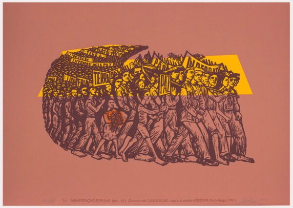 073 - Carlos Scliar - 50x70cm - Redescobertas do Brasil - Serigrafia - Ano 2000 - Tiragem 150 (15)