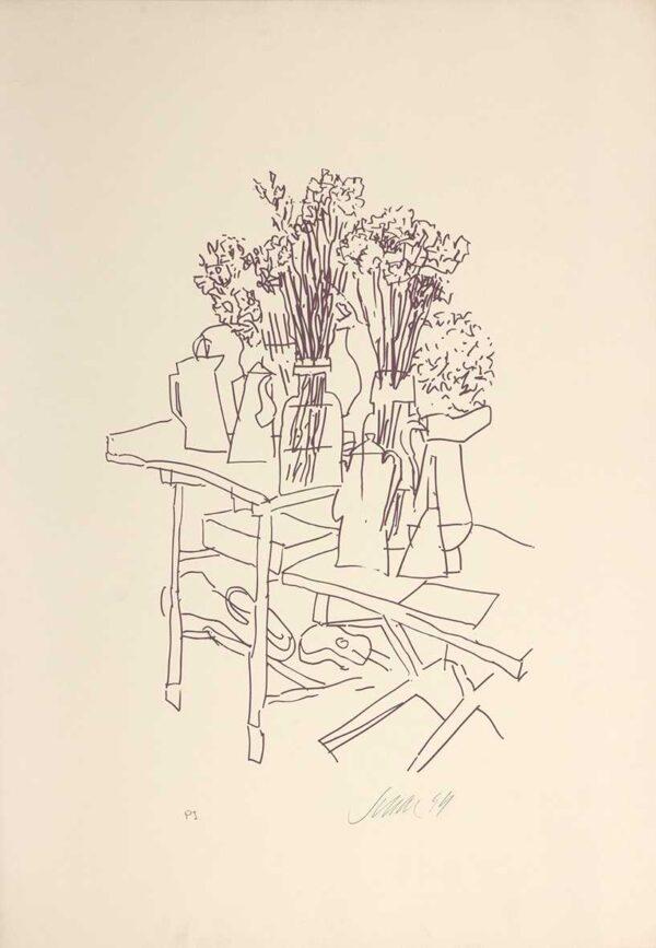075 - Carlos Scliar - 50x70cm - Serigrafia