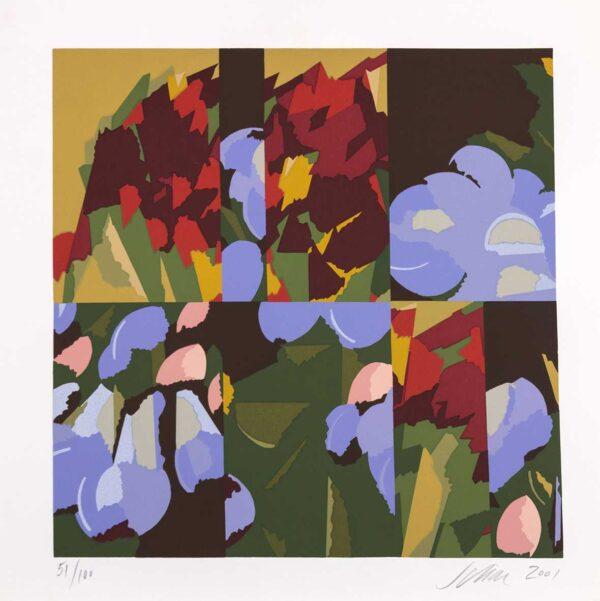 077 - Carlos Scliar - 50x50cm - Serigrafia - Ano 2001 - Tiragem 100