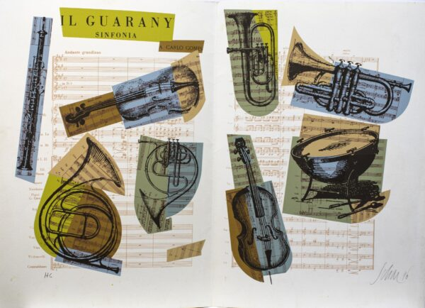 080 - Carlos Scliar - 48x33cm - Serigrafia - Ano 1996 - Tiragem 100