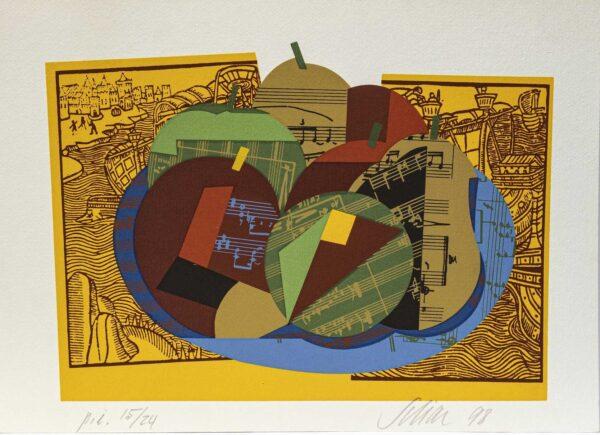 081 - Carlos Scliar - 48x66cm - Serigrafia - ano 1998 - Tiragem 100 (2)