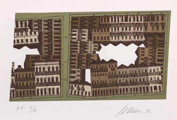 082 - Carlos Scliar - 48x33cm - Serigrafia - Ano 1997 - Tiragem 100