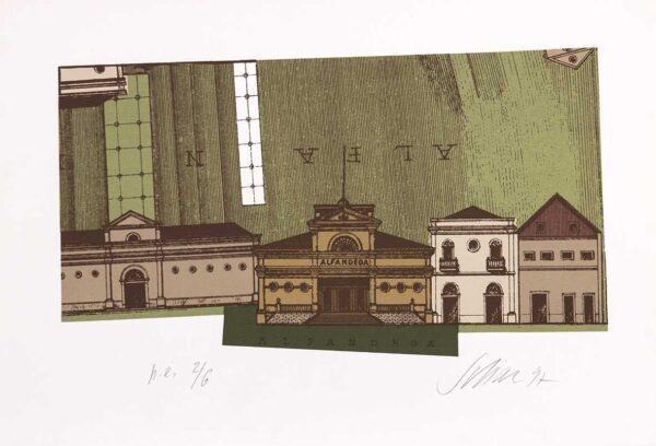 085 - Carlos Scliar - 48x33cm - Serigrafia - Ano 1997 - Tiragem 100 (3)