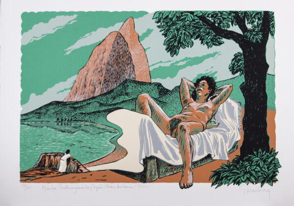 162 - Felipe Heremberg - 50x70 - Serigrafia - tiragem 55