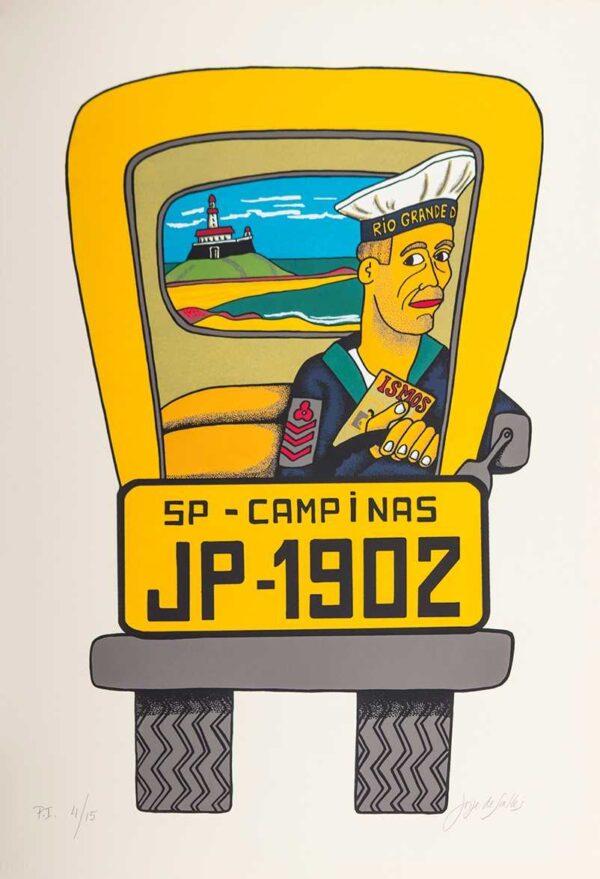 201 - Jorge Salles - Serigrafia - 50x70cm - ano 1985 - Tiragem 100 (20)