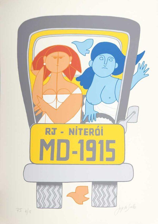 202 - Jorge Salles - Serigrafia - 50x70cm - ano 1985 - Tiragem 100 (22)