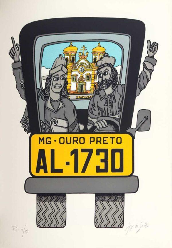 207 - Jorge Salles - Serigrafia - 50x70cm - ano 1985 - Tiragem 100 (18)