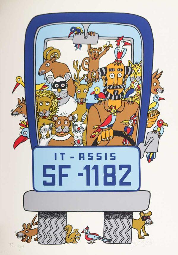 209 - Jorge Salles - Serigrafia - 50x70cm - ano 1985 - Tiragem 100 (15)