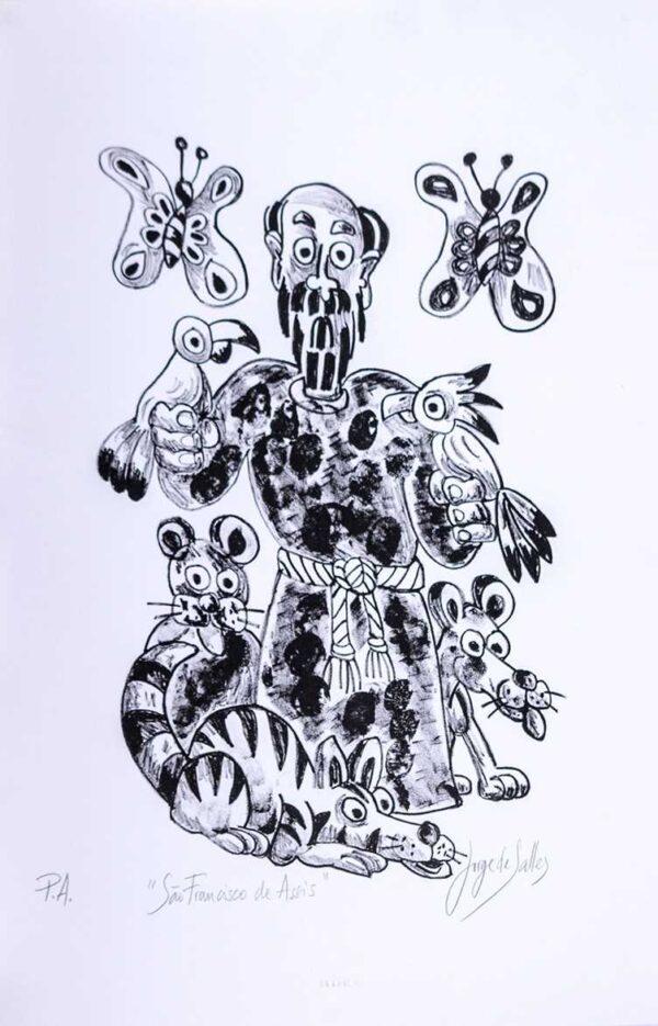 215 - Jorge Salles - 50x70cm - Litografia - Tiragem 46