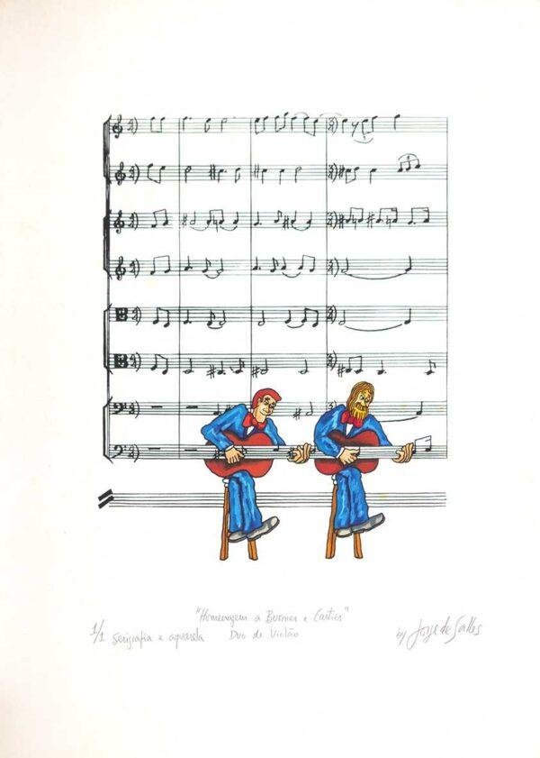 219 - Jorge Salles - 50x70cm - Serigrafia - (2)