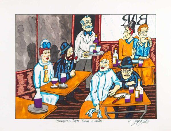220 - Jorge Sale- 50x70 - Serigrafia - Homenagem ao Bar