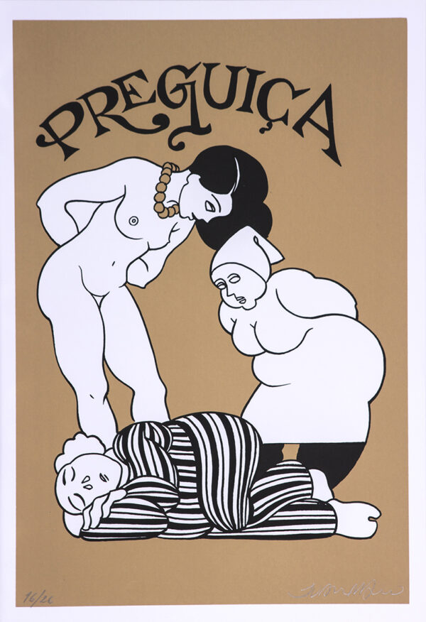 228 - Juarez Machado - 7 pecados Capitais - 50x35cm - Serigrafia - Tiragem 26 (1)