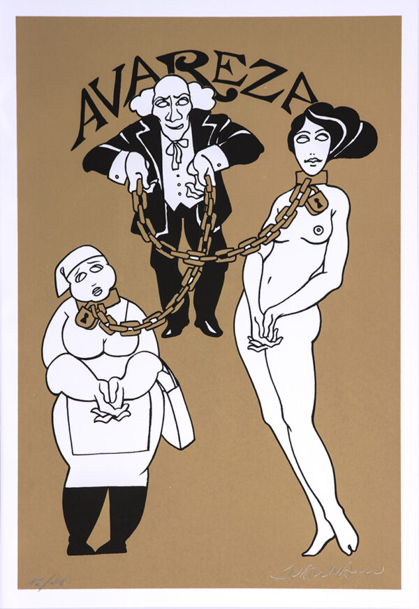 231 - Juarez Machado - 7 pecados Capitais - 50x35cm - Serigrafia - Tiragem 26 (4)