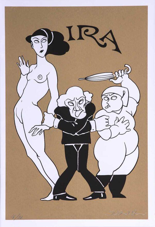 233 - Juarez Machado - 7 pecados Capitais - 50x35cm - Serigrafia - Tiragem 26 (2)