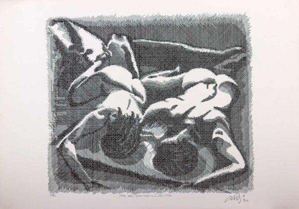 250 - Luvi - Repouso - 50x70cm - Serigrafia - Tiragem 100
