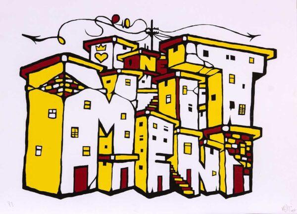 268 - Marcelo Ment - 66x48cm - Serigrafia 2014