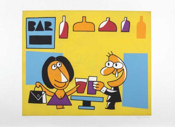 294 - Nássara - 50x70cm - Homenagem ao bar - Serigrafia - tiragem 100