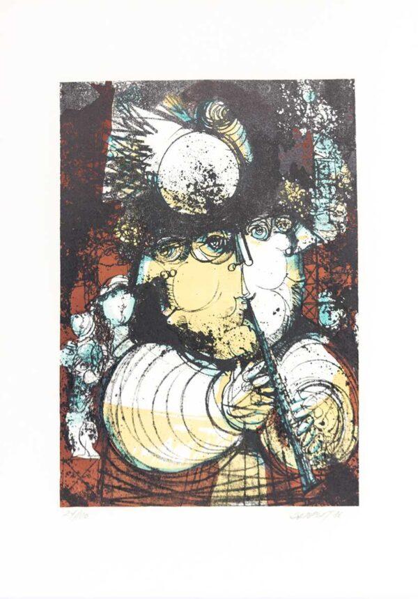 304 - Alexandre Rapoport - serigrafia - formato 50x70cm ano 1986 - tiragem de 100 exemplares