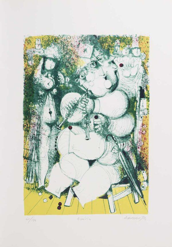 305 - Rapoprt - 48x66cm - Litografia e Serigrafia - Ano 1986 - Tiragem 100 (2)