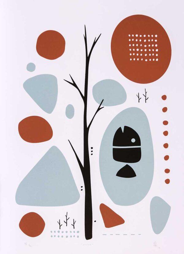 439 - Rafael Uzai - 48x66cm - Serigrafia - Ano 2014 - Tiragem 20 (1)