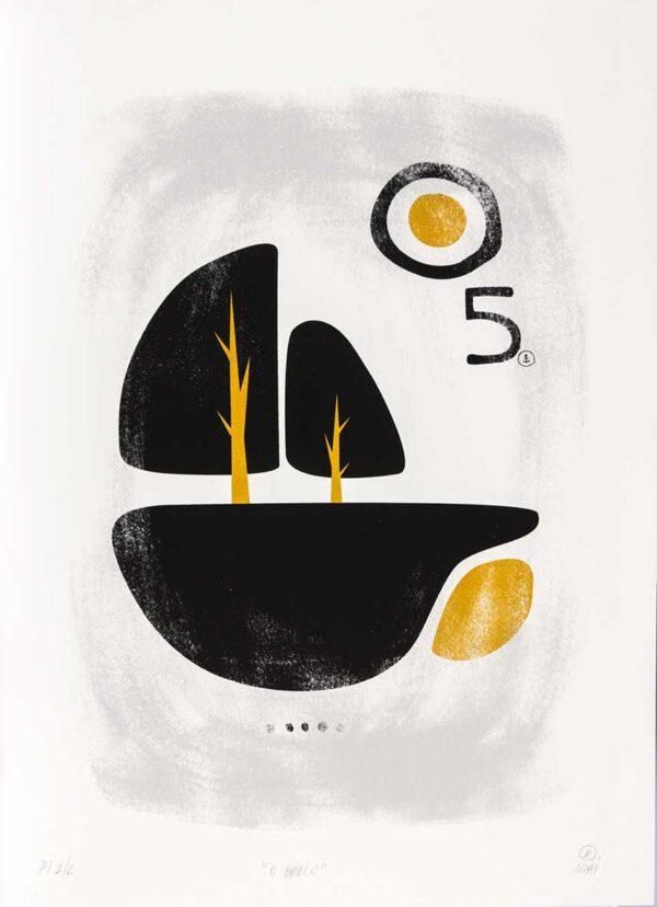 441 - Rafael Uzai - 48x66cm - Serigrafia - Ano 2014 - Tiragem 20 (2)