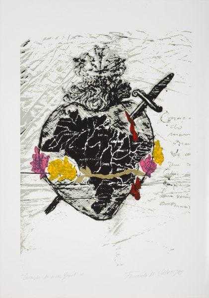 490 - Fernando Veloso 01 - Serigrafia 50x70cm