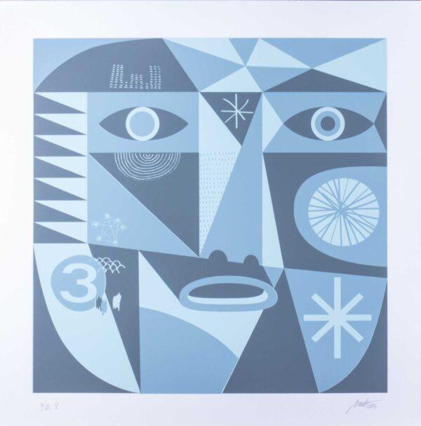 541 - Marcelo Macedo - Mac - 48x48cm - Serigrafia - Tiragem - Ano 2016