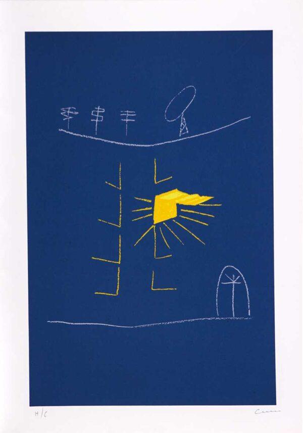 563 - Cleber Machado - 50x70cm - Serigrafia - Tiragem 100