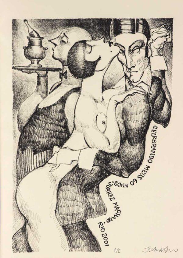 317 - Juarez Machado - 35x35cm - Litografia - ano 2001 - Tiragem 500 (2) (1)